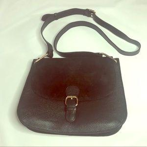 EUC Black suede & leather Brampton London bag
